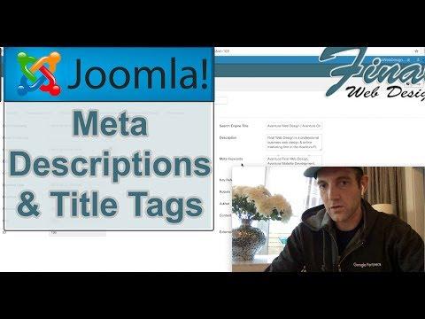 Joomla: Meta Descriptions And Title Tags