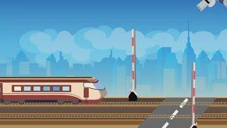 РАЗВИВАЮЩИЙ МУЛЬТИК ПРО ПОЕЗДА.  Детский мультик про паровозик и железную дорогу