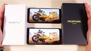 Pocophone F1 Vs Honor Play Speed and Pubg Test