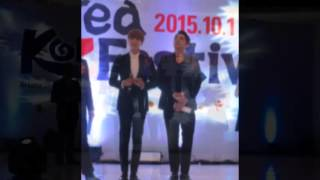 Greeting Bahasa Indonesia Super Junior Leeteuk di Korea Festival 2015 (01-10-2015)