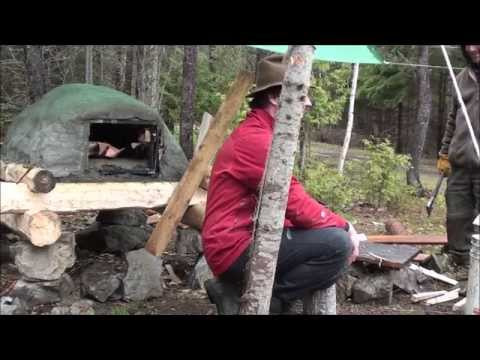 3 Days/19th Century Trappers Cabin Qc Canada (2/2)