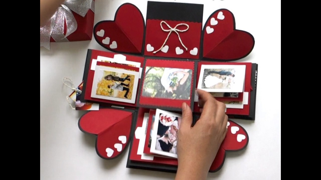 Love Explosion Box Photo Album Perfect Gift For Valentines