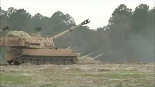 Боевые стрельбы армии США  Танки Абрамс  Огонь из САУ  Оружие НАТО
