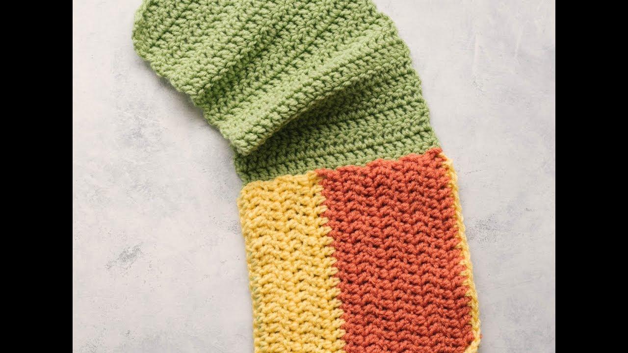 How To Crochet an Arm Chair Organizer | AllFreeCrochet - YouTube