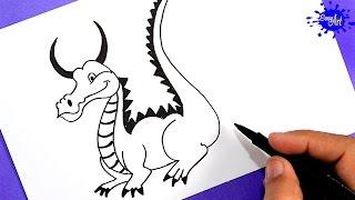 Como dibujar un Dragon | how to draw a Dragon | Easy art
