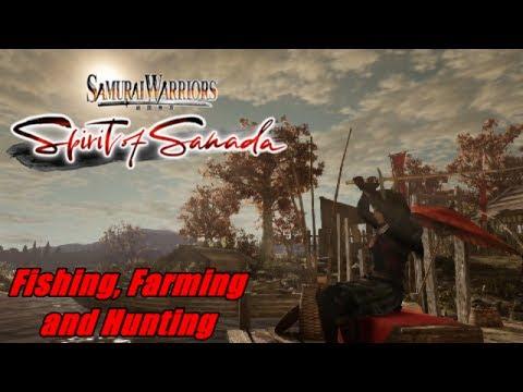 PS4 Samurai Warriors Spirit Of Sanada-Fishing, Farming and Hunting Gameplay