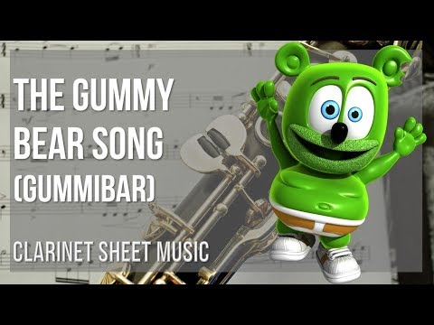 EASY Clarinet Sheet Music: How to play The Gummy Bear Song by Gummibar