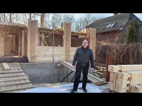 Строительство дома из клеёного бруса 185 высота 202 ширина