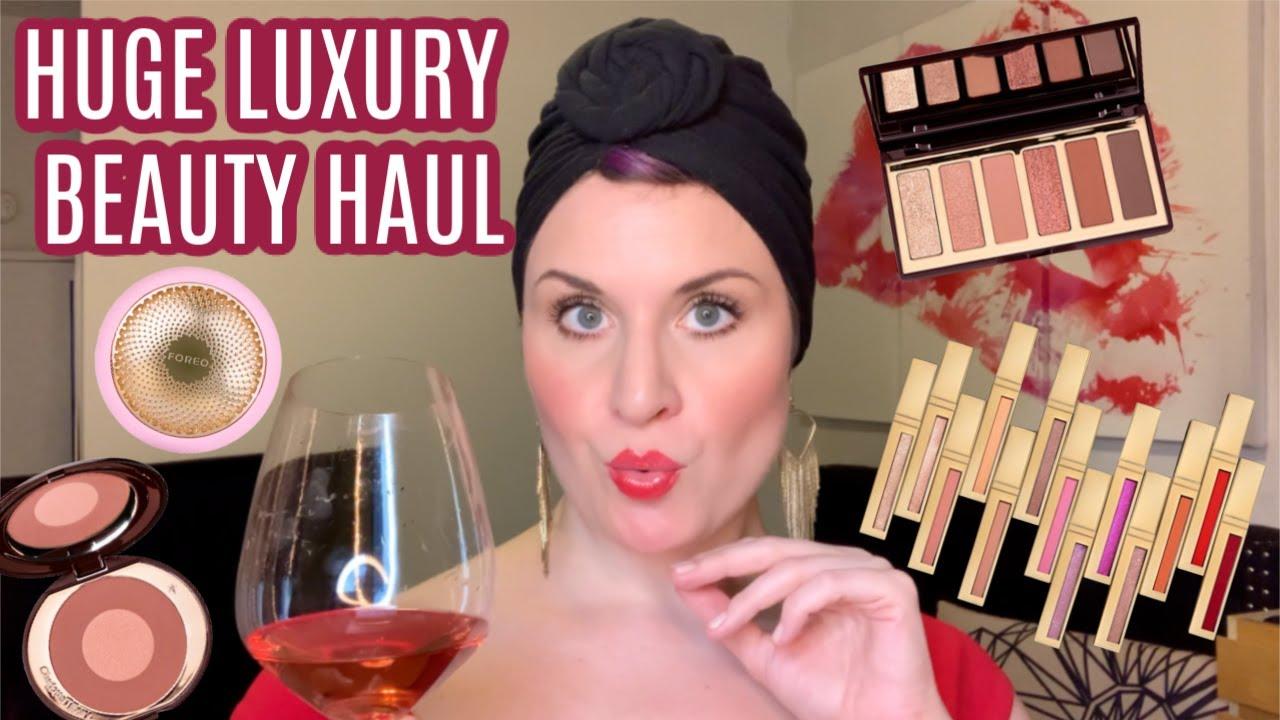 Huge Luxury Beauty Haul | Charlotte Tilbury | Scott Barnes | Chanel | Foreo | With a Portugese Rosé