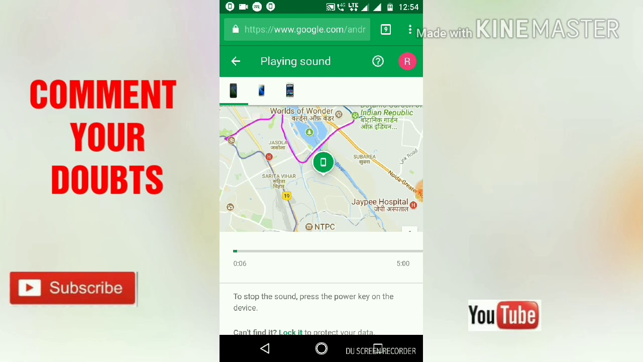 how to find lost mobile