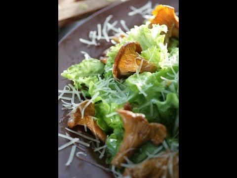 Рецепт Юлия Высоцкая  Теплый салат с лисичками
