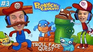 SUPER TROLLIO BROS CATCHING TROLLEMON! Troll Face Quest Video Games