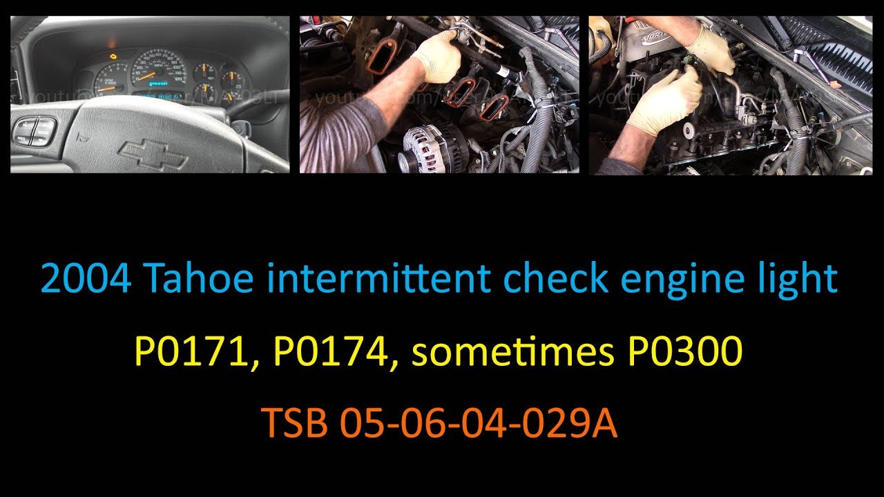 2004 Tahoe - Rolling the diagnostic dice with a 13 year old TSB (for  intermittent P0171/P0174 codes)