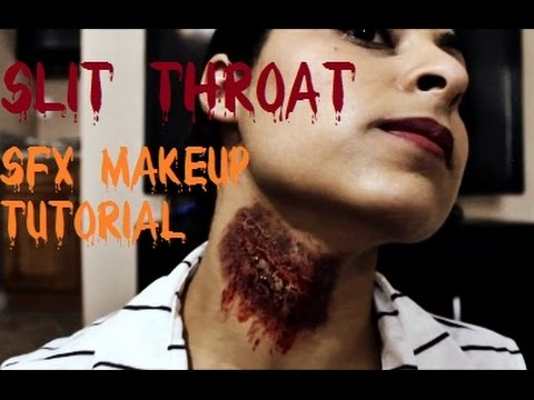 how to make a cut throat makeup