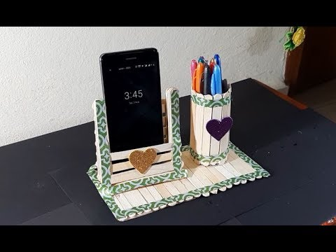 How to make Pen Stand with Ice Cream Sticks | DIY Crafts | Easy Crafts