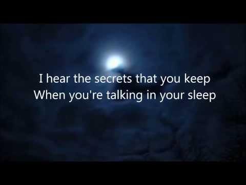 Talking In Your Sleep -- The Civil Wars (lyrics on screen)