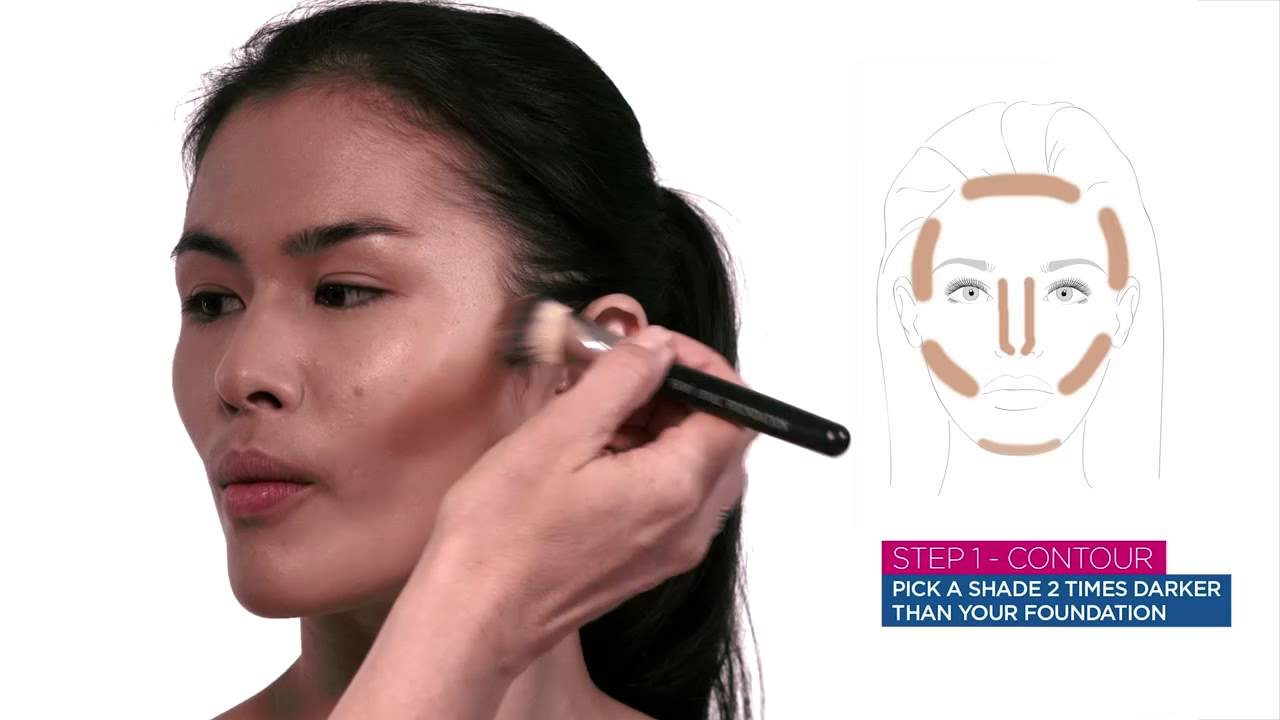 How To Contour & Highlight Using Match Perfection Foundation  Rimmel  London  Youtube