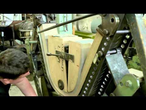 biegen von massivholz stuhlrücken für stuhlmodell klio