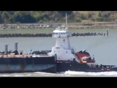 Gulf Reliance transiting Carquinez Straits pushing her tank barge