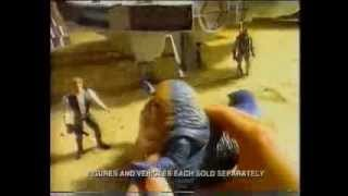 Star Wars - Jabba & Han Solo - Dewback & Sandtrooper  - TV Toy Commercial - Kenner