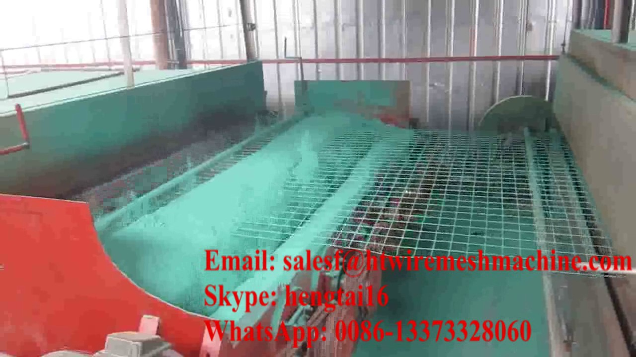 PVC coated production line for welded wire mesh - YouTube