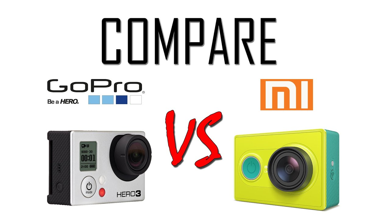 Xiaomi yi vs gopro hero action camera comparison cameralah com gopro - Gopro Hero3 Black Vs Xiaomi Yi 1080p 30 Compare Side By Side