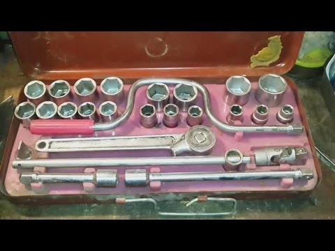 Набор шоферского инструмента времен СССР и снова о гаражной печке