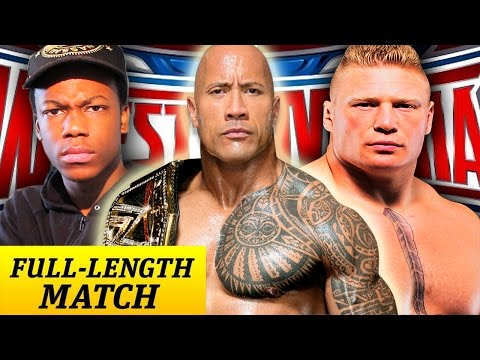The Rock vs. Brock Lesnar vs. Will Power...