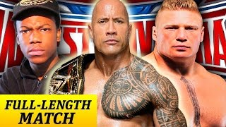 The Rock vs. Brock Lesnar vs. Will Power (Full WrestleMania Match) [WWE 2K16 MyCareer Part 37]