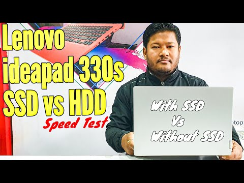 Lenovo Ideapad 330s Speed Test With SSD Vs Without SSD | Start & Restart Speed Test