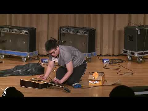 Taiwanese student plays harsh noise at singing contest
