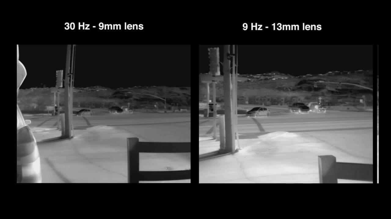 FLIR VUE 9HZ vs. 30Hz Frame Rate Comparison - YouTube