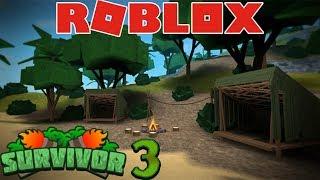 Roblox Survivor   Последний герой 3 серия  Остров отчаянных героев  Выживший Мульт игра для детей!!