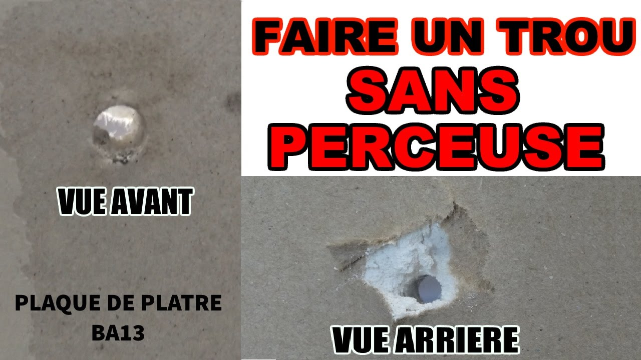 Faire un trou sans perceuse plaque de platre ba13 placo youtube - Plaque de platre isolante ...