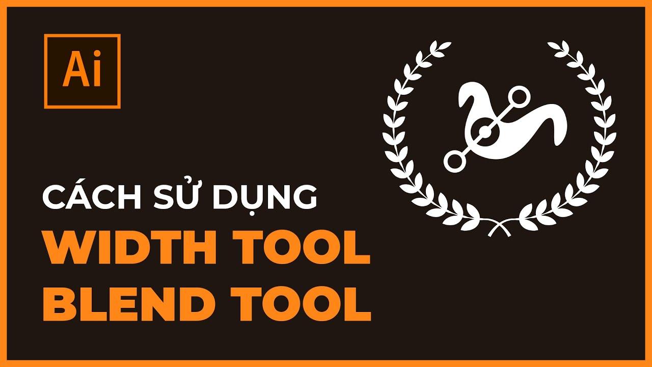 Bài 13: Width Tool và Blend Tool trong Illustrator | Thùy Uyên