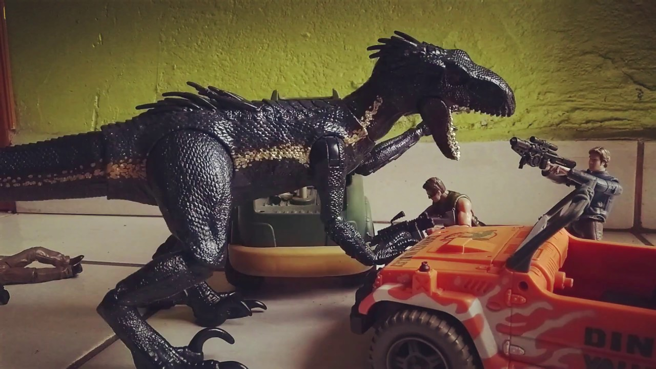 Indoraptor hunt STOP-MOTION corto animado
