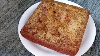 Eggless Suji Cake With Condensed Milk | Semolina Cake Recipe | सूजी का केक