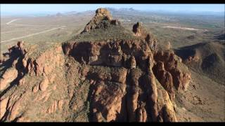 Red Mountain Arizona from the air