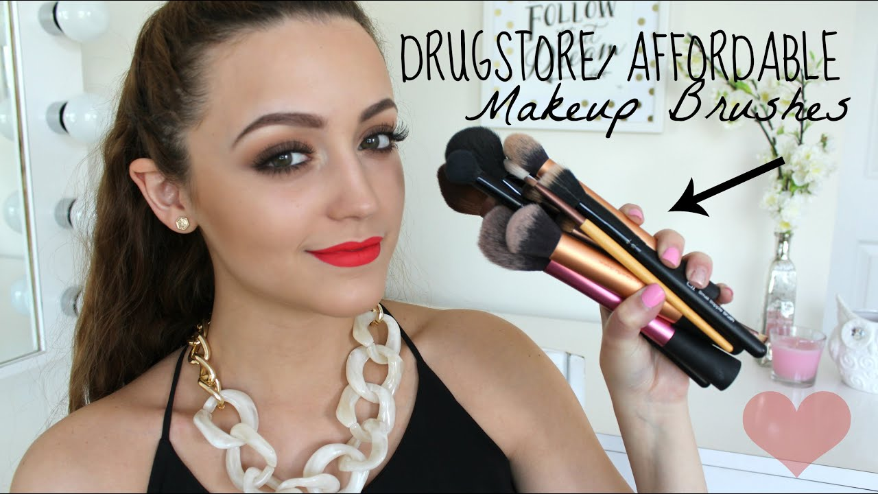 Best Drugstore/ Affordable Makeup Brushes! - YouTube