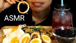 ASMR Mukbang មីឆា , ពងមាន់ជ្រួក , ពងចៀន, តប៉ែរ | no talk eating show