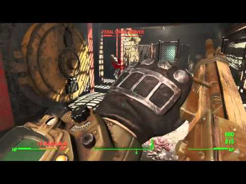 Fallout 4 GAMEPLAY 14: GHOULS IN THE FACTORY PART 2