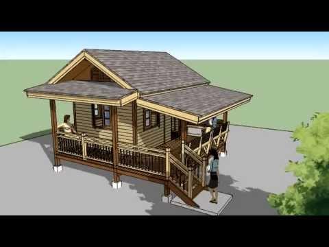 แบบบ้านไม้รีสอร์ทแบบบ้านสำหรับนำไปก่อสร้างเองราคาถูก