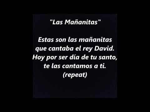Las Mañanitas Birthday Karaoke Instrumental Backing Track Trax LYRICS WORDS Mexican SING ALONG SONGS