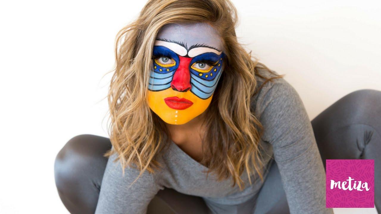 Rafiki from 'the lion king' halloween makeup tutorial | metiza.