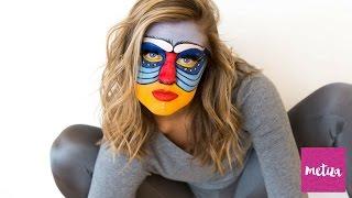 Rafiki From 'The Lion King' Halloween Makeup Tutorial | Metiza