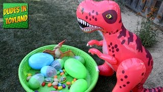 toy dinosaurs eggs giant nest for kids videos surprise dinos