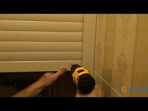 Рольставни в туалет установка своими руками видео