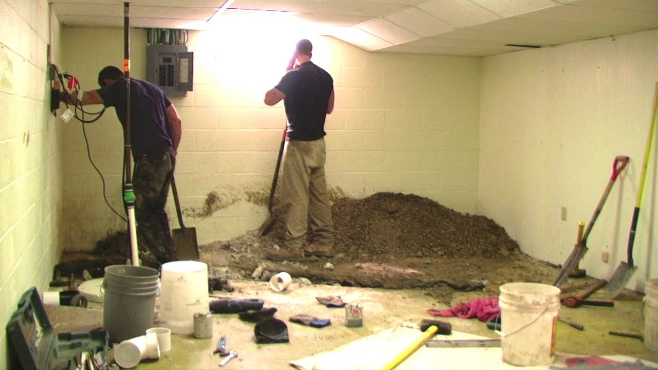 Time Lapse Basement Sewer Repair Youtube