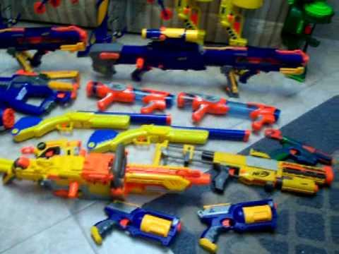 Nerf Gun Arsenal all my nerf guns! my n...