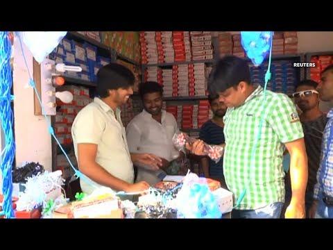 Customers in northern India boycott Chinese items ahead of Hindu festivital